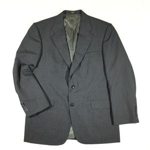 Stafford Blazer 42R Gray Wool Blend Blazer Coat